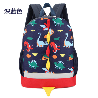 Kids Children Boy Casual Outing Cool Korean Style Dinosaur Zoo Student Backpack