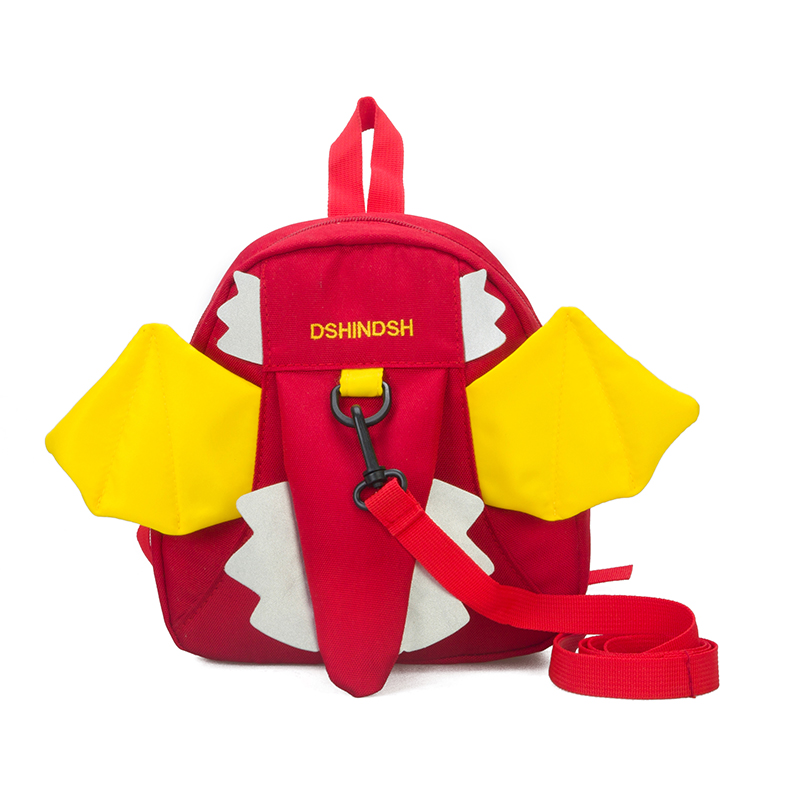 Kids Children Boy Casual Outing Cool Korean Style Red Dragon Student Backpack
