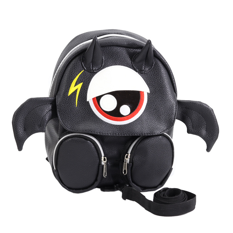Kids Children Boy Casual Outing Cool Korean Style Black Dragon Student Backpack