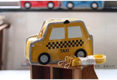 Kids Children Boy Casual Outing Cool Creative Taxi Car Sling Bag Crossbody