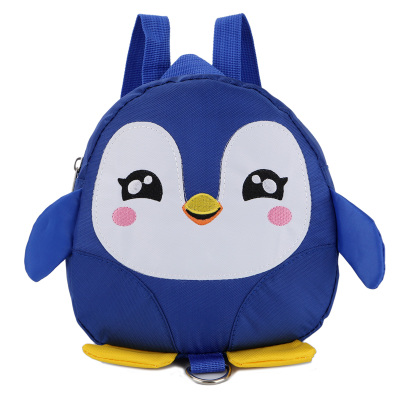Kids Children Boy Casual Outing Cool Penguin Doll Students Backpack