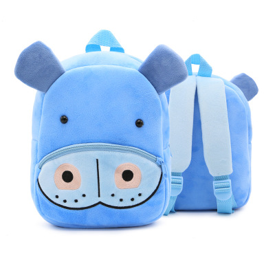 Kids Children Boy Casual Outing Cool Korean Hippo Doll Students Backpack