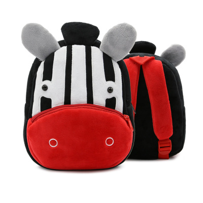 Kids Children Boy Casual Outing Cool Korean Zebra Doll Students Backpack