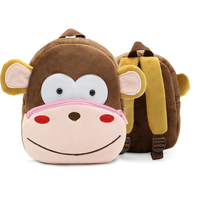 Kids Children Boy Casual Outing Cool Korean Monkey Doll Students Backpack