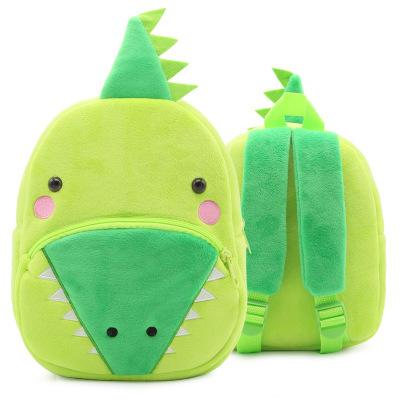 Kids Children Boy Casual Outing Cool Korean Crocodile Doll Students Backpack