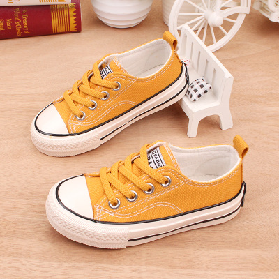 Kids Children Girl Cute Korean Lacing Up Canvas Sneakers Casual Outing Shoes