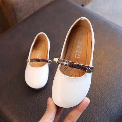 Kids Children Girl Cute Classic PU Leather Flats Casual Outing Shoes