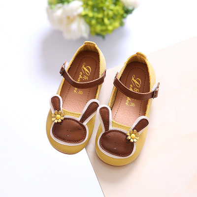 Kids Children Girl Cute Round Head Bunny Rabbit Flats Casual Outing Shoes