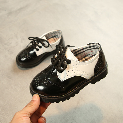 Kids Children Girl Cute England Style Round Head Casual Outing Shoes