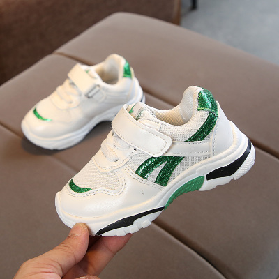 Kids Children Boy Cool Shiny V Line Sports Running Casual Outing Shoes