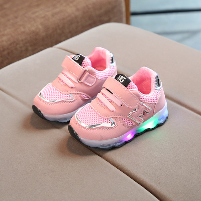 Kids Children Boy Cool Letter M Sports Running Casual Outing Shoes