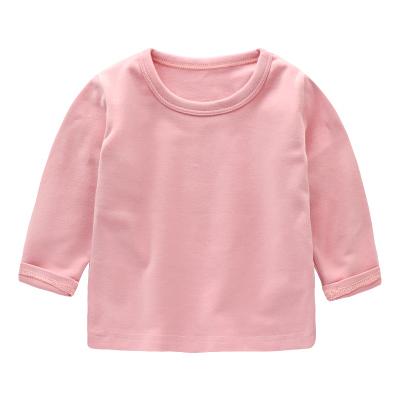 b3ba6c5e4 Baby Cute Boy Girl Round Neck Long Sleeve Basic Plain Color T-Shirt Tops