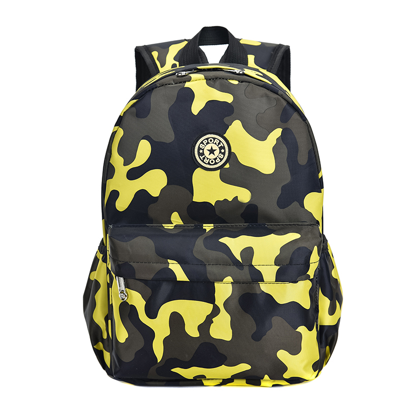 Kids Children Boy Kindergarten Children\'s School Bag Camouflage Travel Backpack