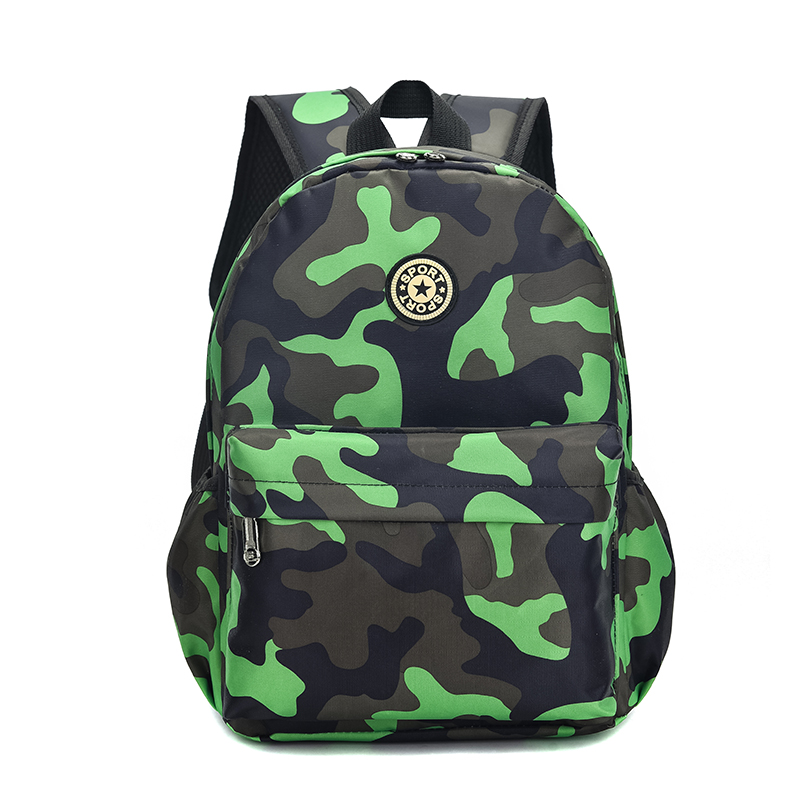 Kids Children Boy Kindergarten Children's School Bag Camouflage Travel Backpack