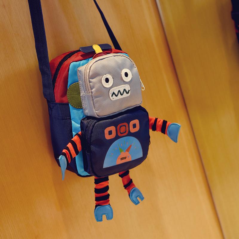 Kids Children Boy Robot Baby Messenger Tide Fashion Boy Child Bag