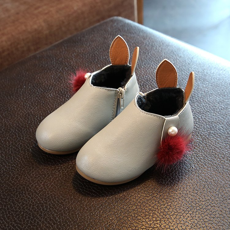 Kids Children Girl Cotton Children's Thick Winter Non-Slip Warmth Shoes