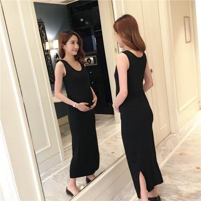 Women Loose Stripes Office Working Long Sleeve Shirt Maternity Dress