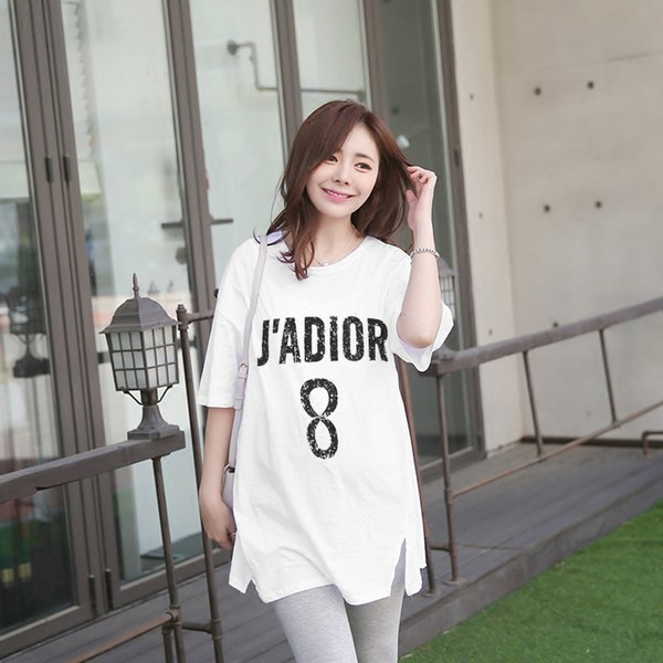 Women Korean Cotton Loose Large Size Long Pregnant T-shirt Maternity Tops