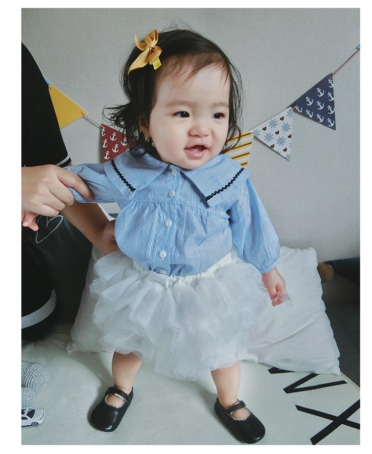 Baby Korean Short Newborn Solid Color Mesh Autumn Puff Skirt