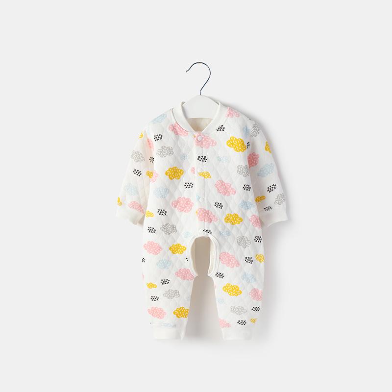 Baby Warm Clothes Men and Women Newborn Long-Sleeved Pajamas Sleepwear
