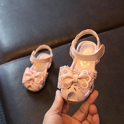 Kids Children Girl Spring Sandals Cute Princess Non-slip Toddler Shoes