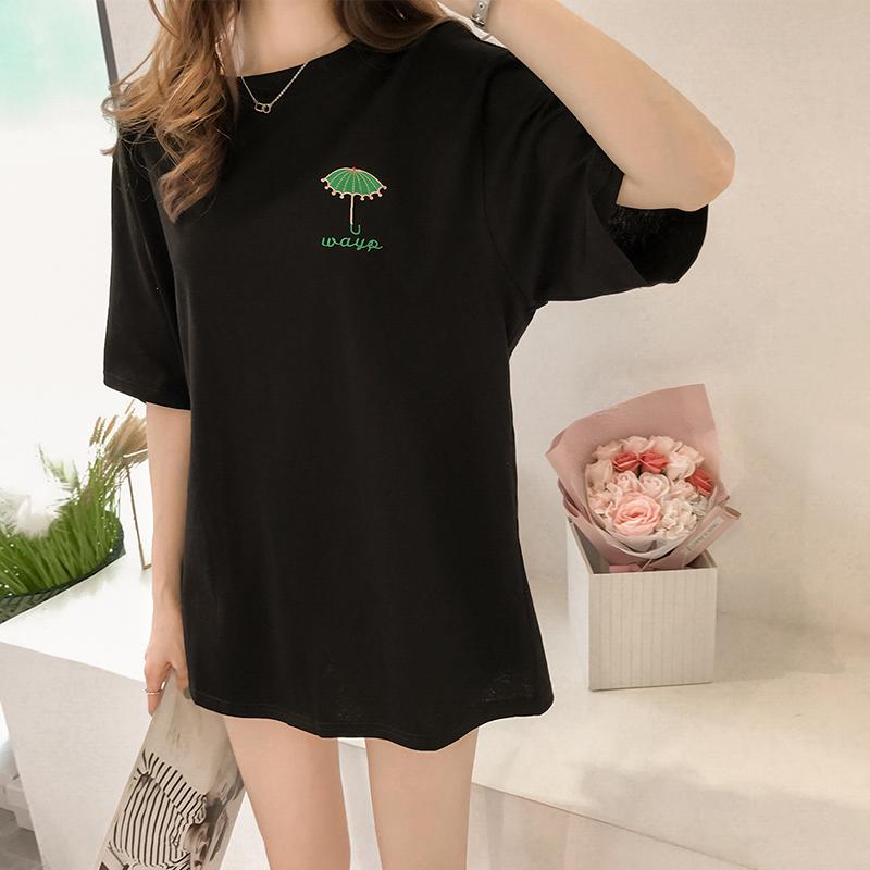 Women Summer T-shirt Short-Sleeved Long Bottoming Shirt Maternity Tops