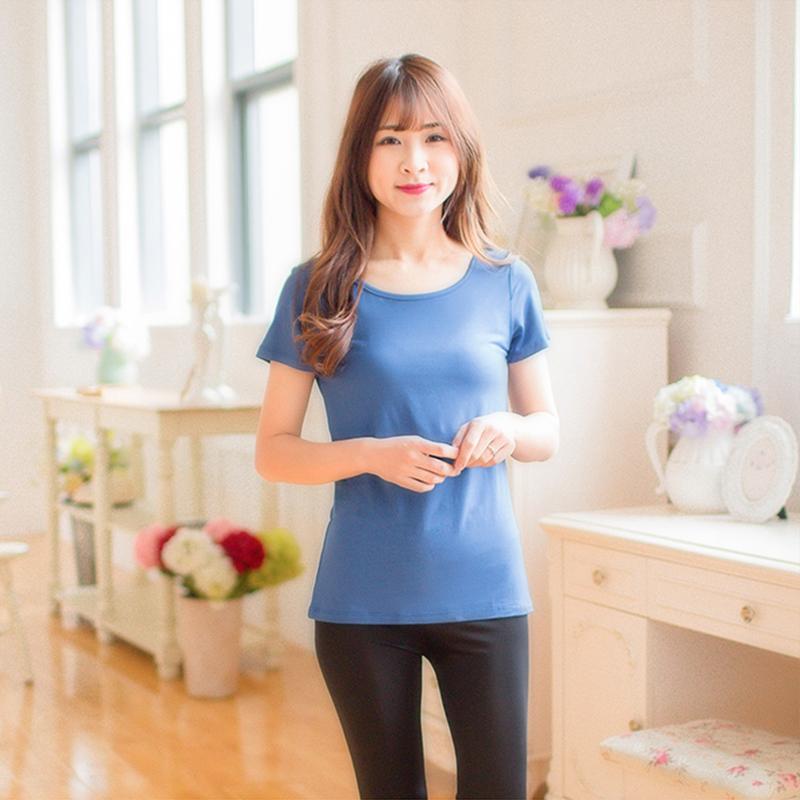 Women Breastfeeding Tops Short-Sleeved T-shirt Bottoming Maternity Nursing Wear