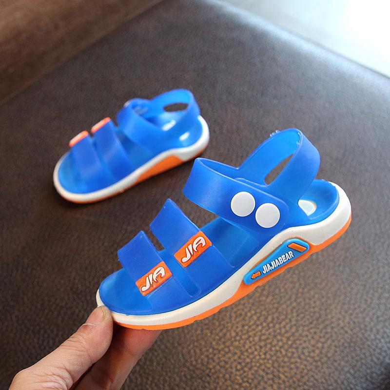 Kids Children Boy Korean Summer Slip Toe Beach Non-Slip Flat Shoes