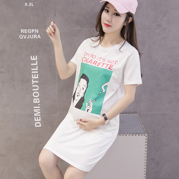 7ad3ad0f10b31 Women Loose Clothes Spring Long Short-Sleeved T-shirt Maternity ...