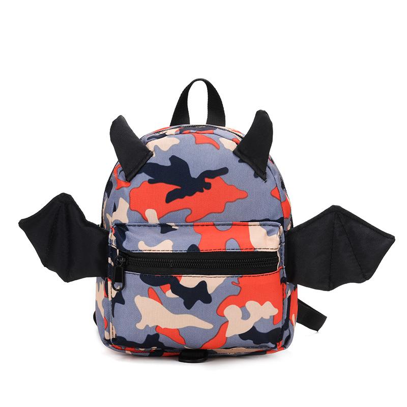 Kids Children Boy Camouflage Cute Mini School Backpack Anti-Lost Bag