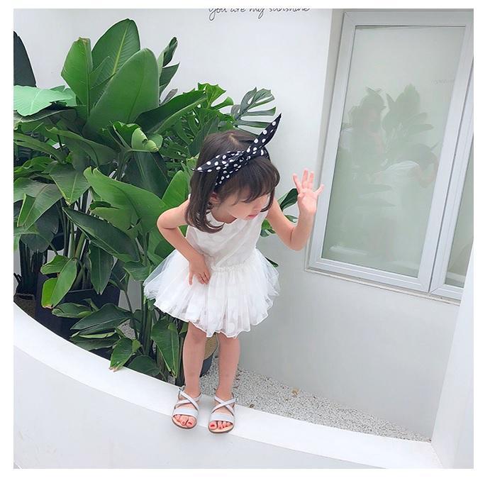 Kids Children Girl Korean Princess Flat Open Toe Sandals Shoes