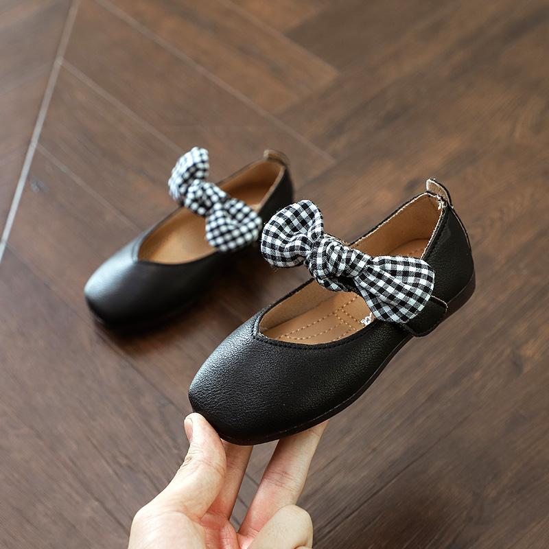 Kids Children Girl Princess Bow Flat Peas Ribbon Casual Shoes