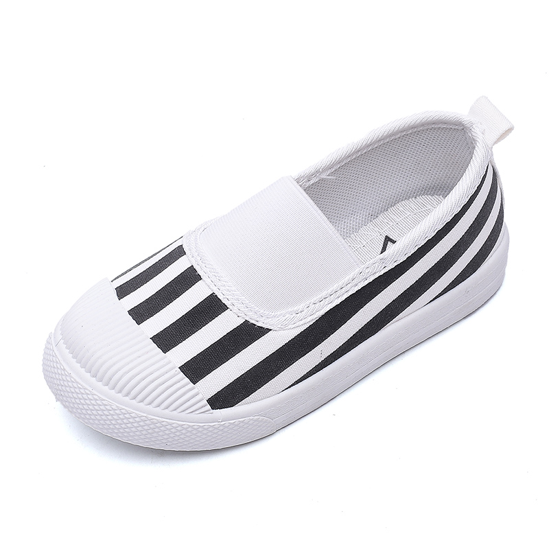 Kids Children Girl Canvas Casual Breathable Color Matching Pedal Shoes