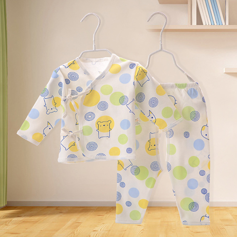 Baby Newborn Harbin Cotton Clothes Autumn and Spring Sleeve Dress Set