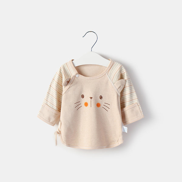 Baby Yi Shuang Newborn Cotton Long Sleeve Monk Clothes Tops