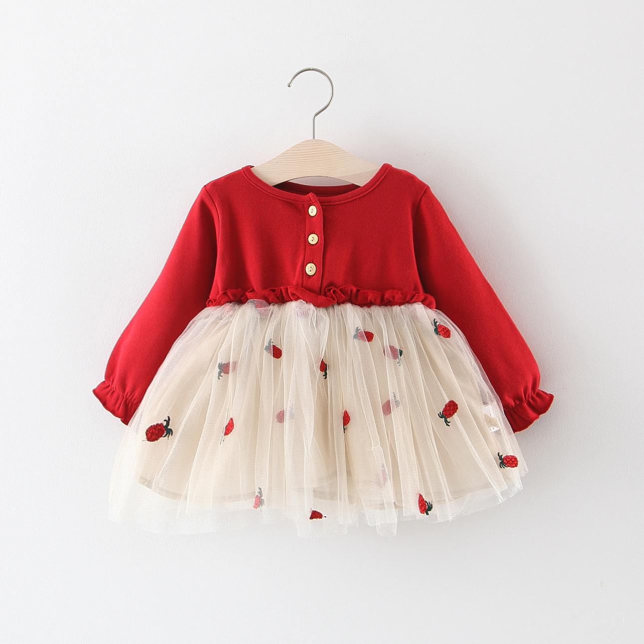 2f163509f79c Kids Children Girl Summer Mesh Long Sleeves Princess Skirt Dress