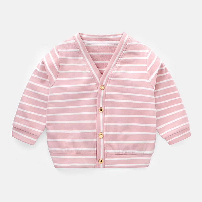 Kids Children Boy Korean Striped Cardigan Jacket Tops