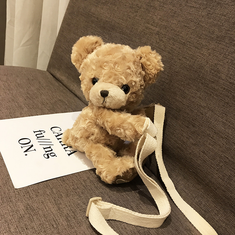 Kids Children Girl Princess Cute Teddy Bear Plush Messenger Bag