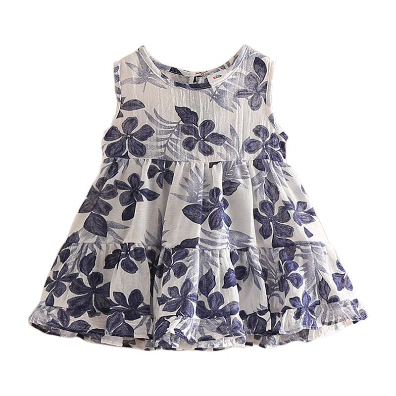 Baby Dress Set Ink Vest Summer Children floral Dress Cute Outfit Baby Clothing Set