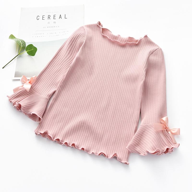 Kids Girl Tops Bottoming Shirt Korean Cotton Tops Long Sleeve Kids Clothing Tops