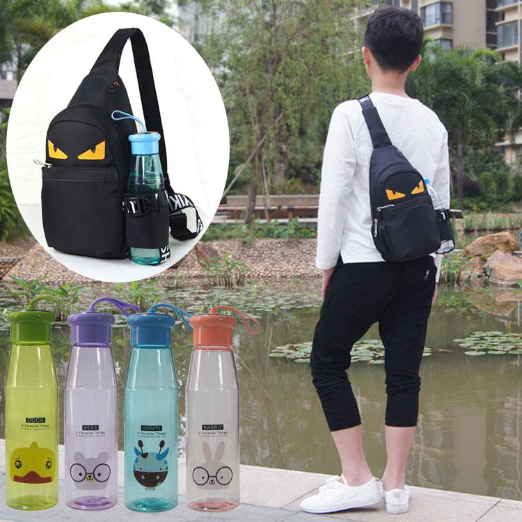 Kids Boys Bag Korean Version New Chest Bag Children\'s Messenger Pupils Backpack