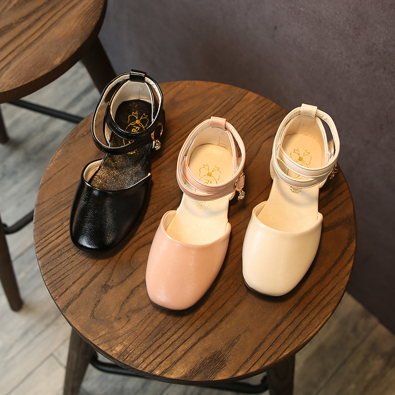Kids Girls Shoes Leather Korean Cute Princess Fashion Doll Tide Non-Slip Bottom