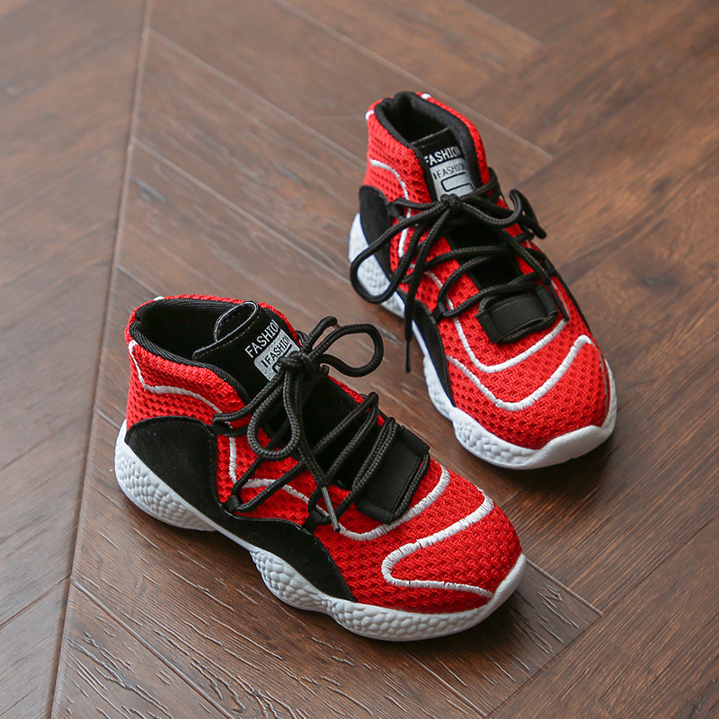 Kids Boys Shoes Ins Super Fire Children Running Mesh Sneakers Sports Wear Shoes