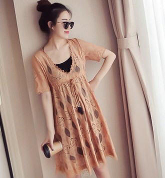 1e5a6763f94 Women Short Sleeve Two Pieces One Set Loose Maternity Dress
