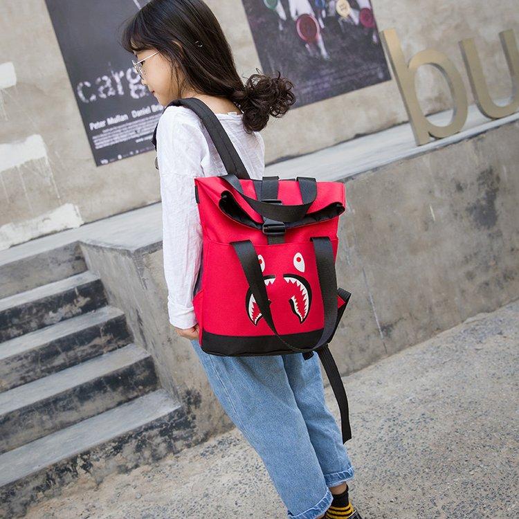 Kids Boys Bags Male Korean Version Leisure Backpacks Custom Tide Boy Canvas Bags