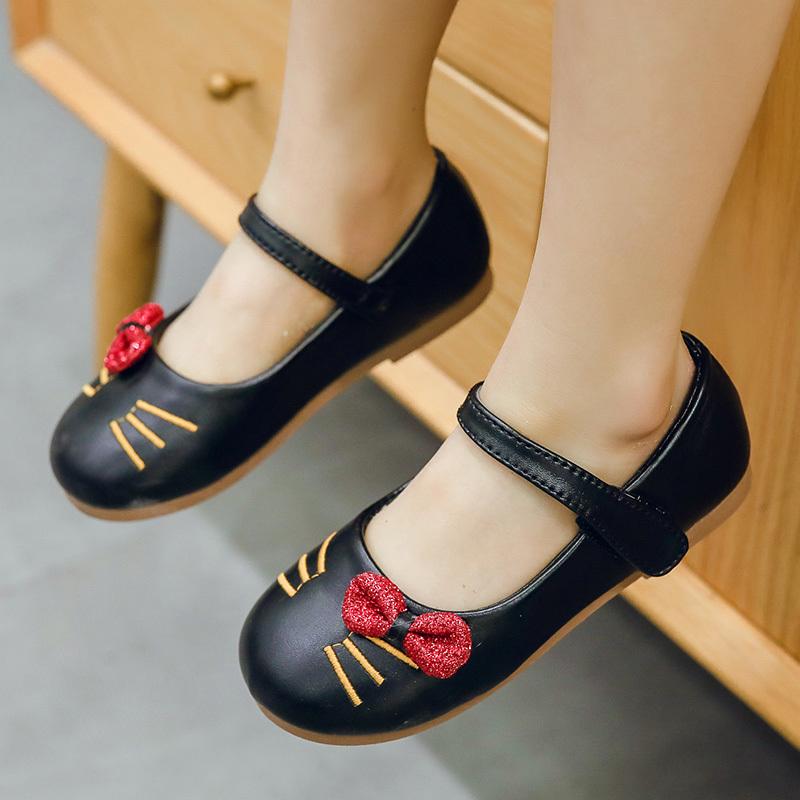 Kids Girls Shoes Female Princess Summer School Bottom Style Soft Leather Bottom