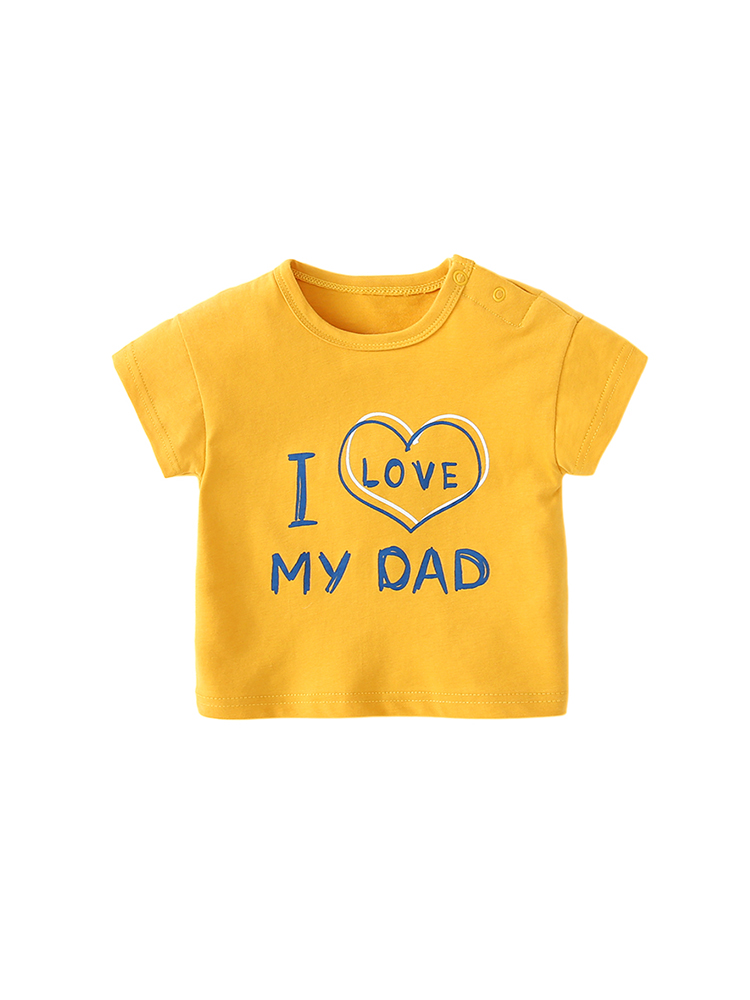 Baby Clothing Tops Colorful Autumn Spring Short Sleeved T-Shirt Newborn Neutral