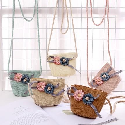Kids Girls Bag Summer Diagonal Cross Korean Coin Purse  Messenger Mini Handbag