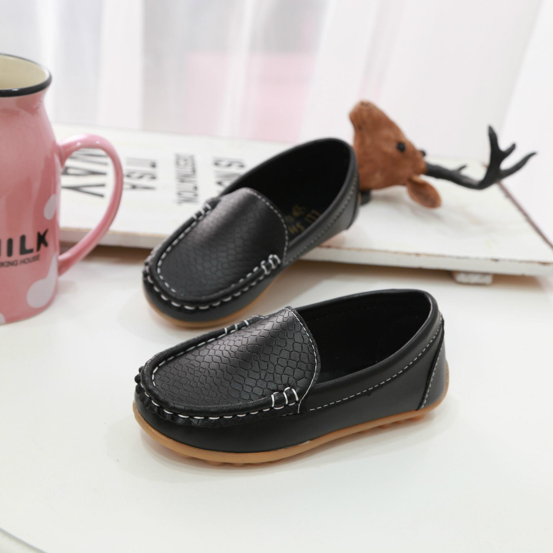 Kids Girls Shoes Peas Soft Bottoms Moccasins Tide Children\'s Comfortable Flats