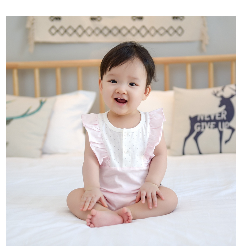 Baby Clothing Sleep Wear Night Romper Cotton Newborn Flying Sleeveless Jumpsuit